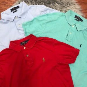 3 Polo Ralph Lauren Pima Soft Touch Short Sleeves